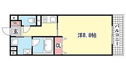 湊川・六甲ハイツ[302号室]の間取り