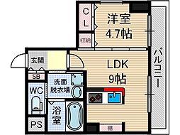 エール茨木本町[5階]の間取り