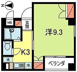 東京都杉並区高円寺南2丁目の賃貸マンションの間取り