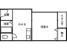 ロイヤルコート7番館[3階]の間取り