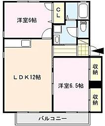 サンハイツAKIYAMA[A202号室]の間取り