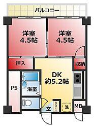 サニー松戸[112号室]の間取り