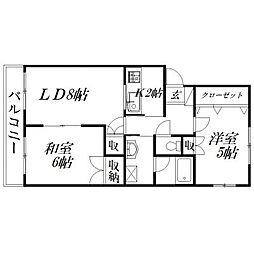 静岡県浜松市南区高塚町の賃貸マンションの間取り