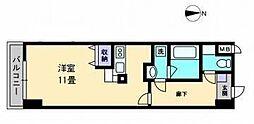 AXiS空港通[410 号室号室]の間取り