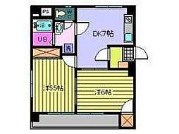 第93杉フラットRANZA[5階]の間取り