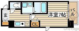 SWISS梅田東[5階]の間取り