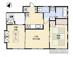 大田区東雪谷4丁目住宅 bt[101kk号室]の間取り