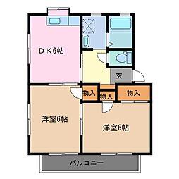 ファミール千代崎 A棟[2階]の間取り