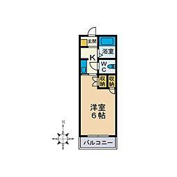 クレストハイム[1階]の間取り