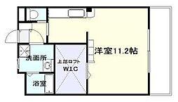 (仮称)瀬頭2丁目マンションII 2階ワンルームの間取り