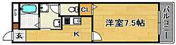 大阪府大阪市東淀川区淡路3丁目の賃貸アパートの間取り
