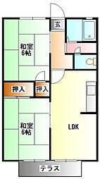 鹿の子台ハイツA棟[1階]の間取り