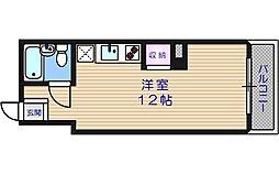 リバープラザ駒川[1階]の間取り