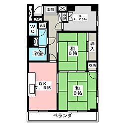 二軒茶屋エスコムビル[6階]の間取り