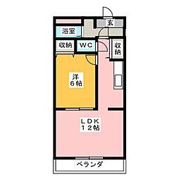 ノースアベニュー[3階]の間取り