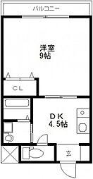 コザックス[3階]の間取り