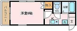 大阪府堺市西区上野芝町1丁の賃貸アパートの間取り
