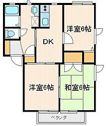 ニューフォーブル[2階]の間取り