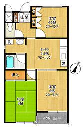 内田マンションII[202号室]の間取り