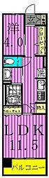 ロイヤルパークス西新井[8階]の間取り