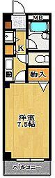 千葉県船橋市海神町西1丁目の賃貸マンションの間取り