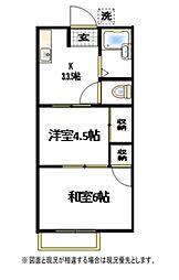 関根荘[2階]の間取り