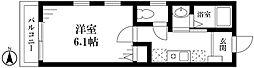 JR山手線 目白駅 徒歩12分の賃貸アパート 2階1Kの間取り