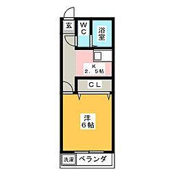 ホワイトシャトー高宮壱番館[2階]の間取り