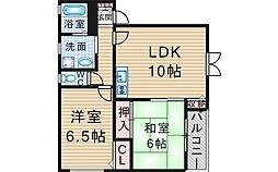 大阪府豊中市本町5丁目の賃貸アパートの間取り