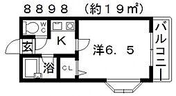 杉村ハイツII[207号室号室]の間取り