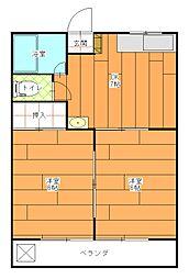 レジデンスリオ[1階]の間取り