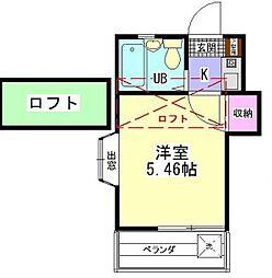 フレッシュメント1[家電家電・ロフト付][105号室]の間取り