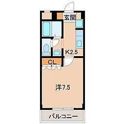 和歌山県和歌山市岩橋の賃貸アパートの間取り