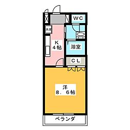 ヴィア・SATO[1階]の間取り