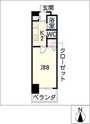 CK錦レジデンス[2階]の間取り
