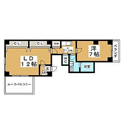 スペリオーレPIステージVIII[6階]の間取り