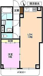 JR北陸新幹線 上田駅 徒歩21分の賃貸マンション 1階1LDKの間取り