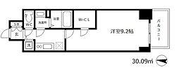 プレサンス江戸堀 6階1Kの間取り