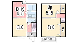 [テラスハウス] 兵庫県相生市古池本町 の賃貸【兵庫県 / 相生市】の間取り