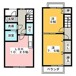 [テラスハウス] 愛知県一宮市花池3丁目 の賃貸【愛知県 / 一宮市】の間取り