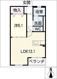 Liv foresta[3階]の間取り