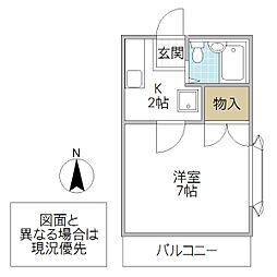 桜井ハイツ天久保[101号室号室]の間取り