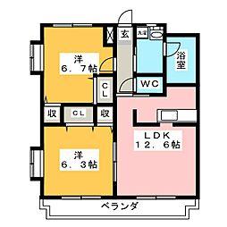 パミドール櫻井[1階]の間取り