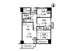 シーダーエクセレントII[3階]の間取り