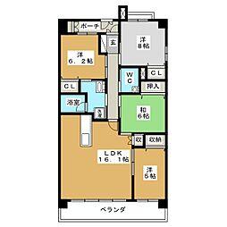 パデシオン京都駅前II番館[7階]の間取り