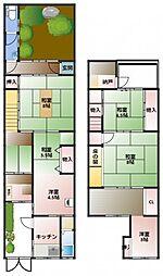 [一戸建] 大阪府大阪市阿倍野区昭和町5丁目 の賃貸【/】の間取り