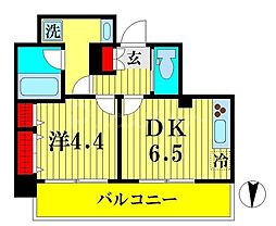 JR総武線 両国駅 徒歩9分の賃貸マンション 3階1DKの間取り