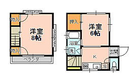 [一戸建] 千葉県松戸市古ケ崎2丁目 の賃貸【/】の間取り