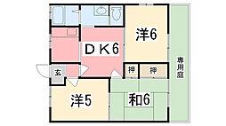 フレグランスHM[203号室]の間取り