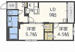 北海道札幌市北区北二十条西6丁目の賃貸マンションの間取り
